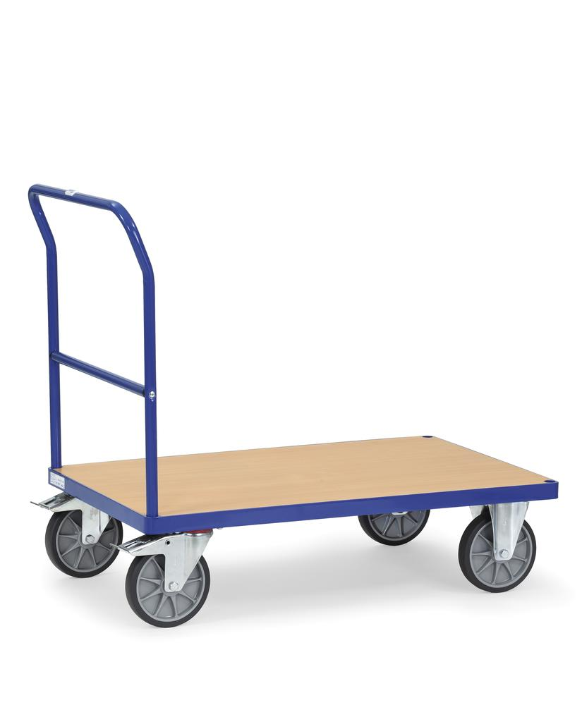 Multi-purpose trolley PW 12 with plastic coated MDF board as a loading surface and handle