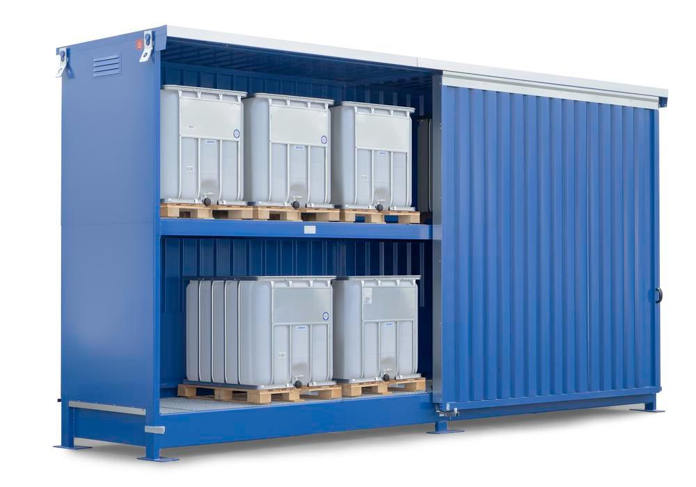 System container 2K 714.OST-ISO A, for storing flammable substances, with sliding doors