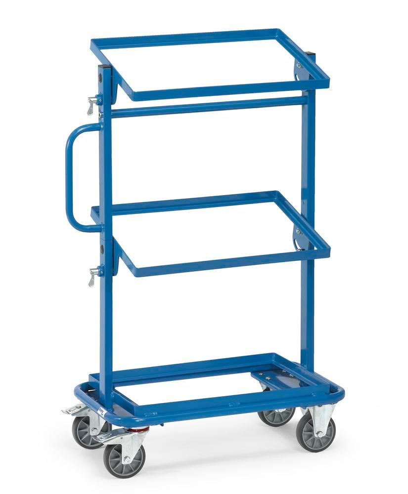 Tiered trolley BW-N with tilting shelves