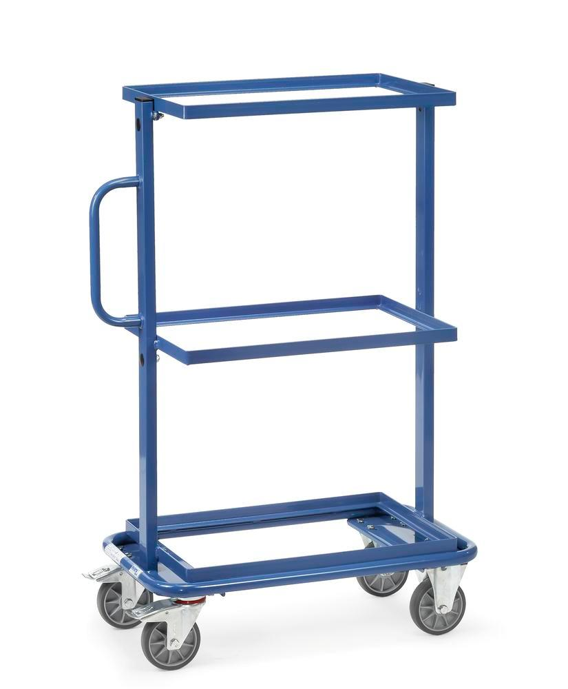 Tiered trolley BW with fixed shelves