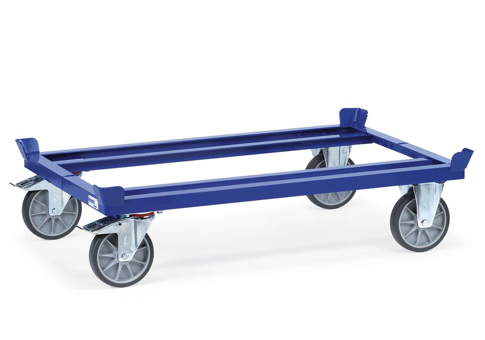 VG mobile frame for Euro pallets, solid rubber tyres, height 270 mm