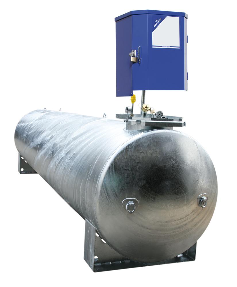 Stationary Fuel Tank KA 10000, for diesel and heating oil, horizontal tank, 10000 litre capacity