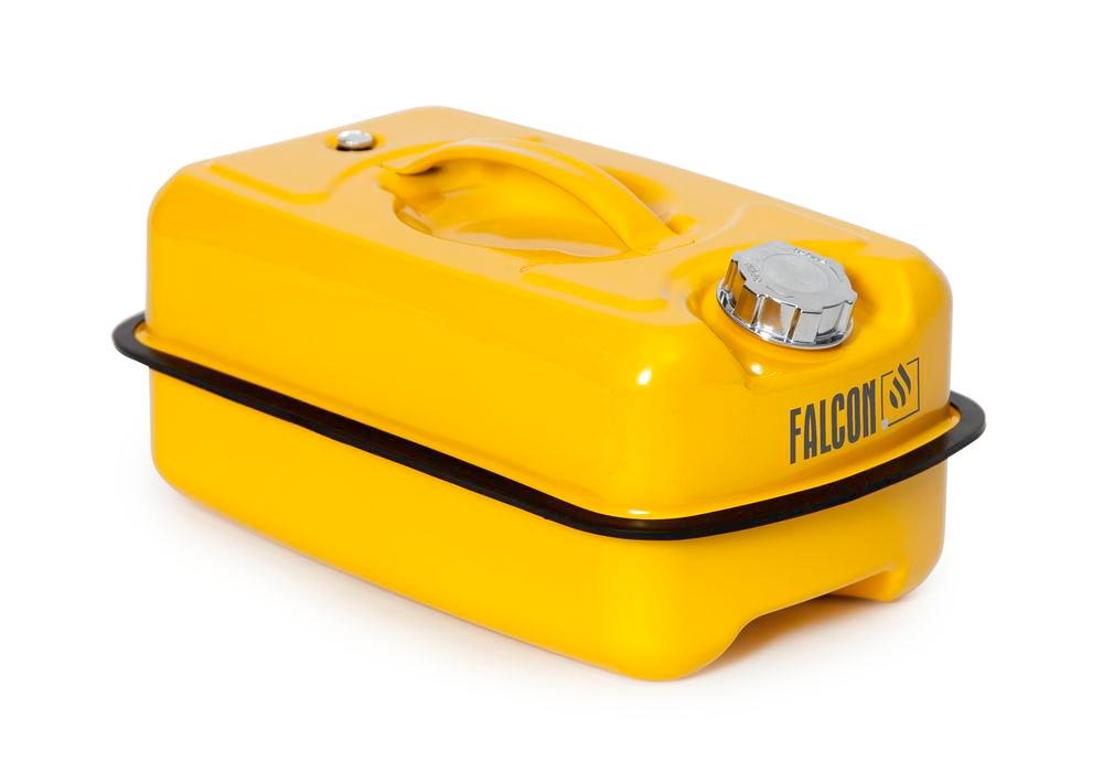 Safety container in steel, with screw cap, yellow, 10 litre