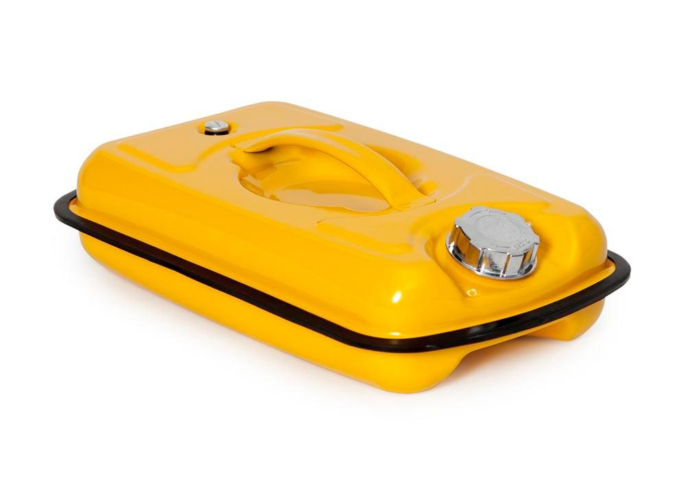 Safety container in steel, with screw cap, yellow, 5 litre