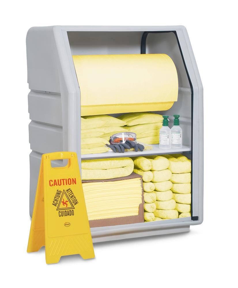 DENSORB Emergency Spill Kit in Safety Cabinet PE incl. Absorbent Roll, application SPECIAL - 1