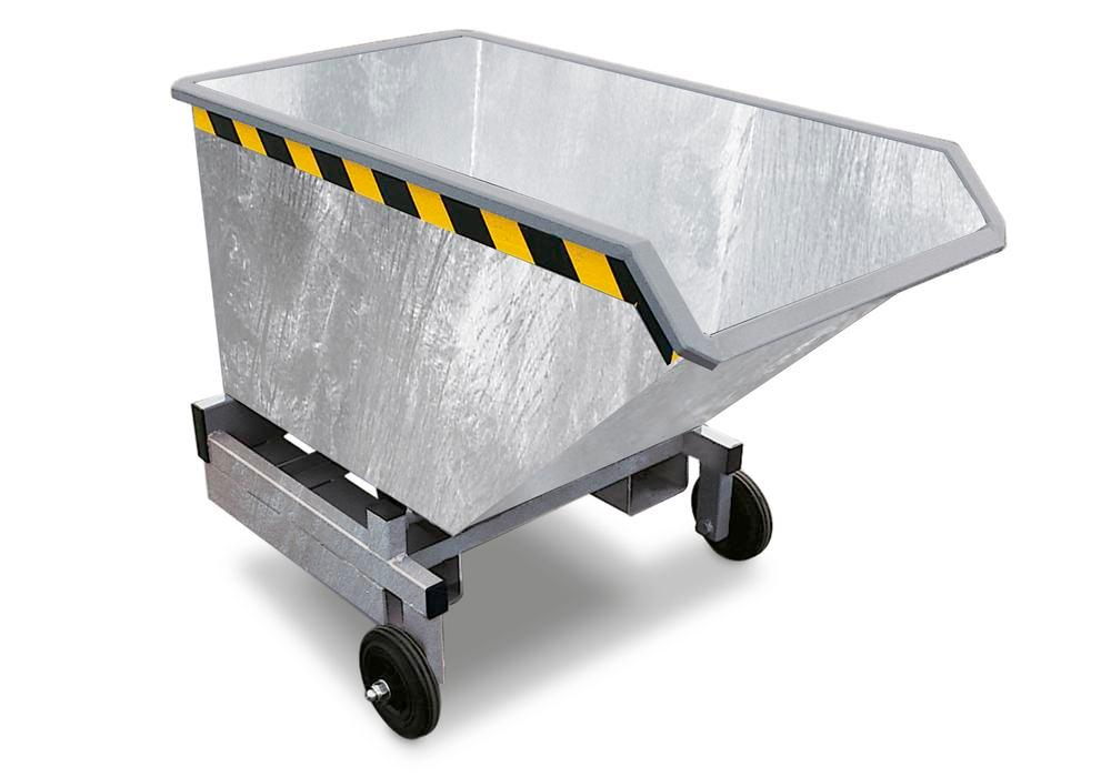 Tipping Trolleys, 600l, Galvanised