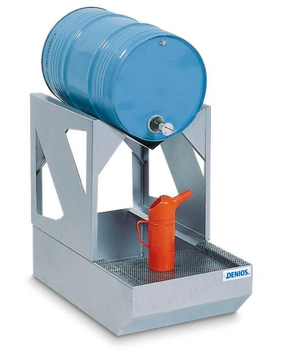 Dispensing station AS-C in steel, galv, with galv drum supp, for 1x60 litre drum