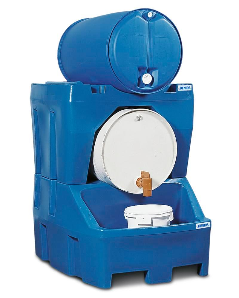 Drum mount for drum dispensing station PolySafe RS, for 1 x 205 litre drum - 1