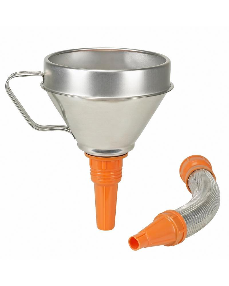 Funnel, stainless steel, with strainer and flexible funnel neck, Ø 160mm