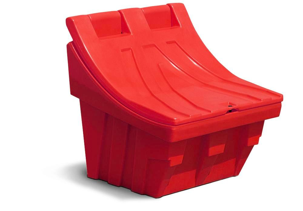 Grit container CS 100 of polyethylene (PE), stackable, red