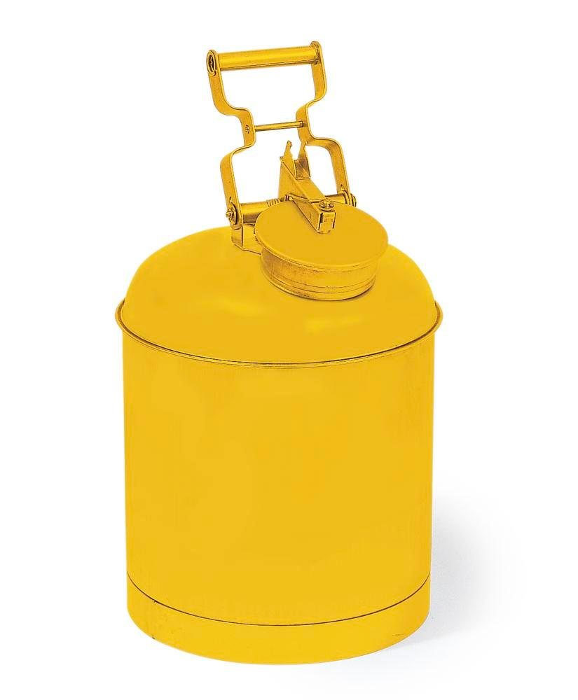 Safety container made from steel, FM tested, 19 litre volume, yellow