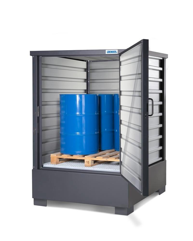 SolidMaxx Depot Model C 1.1, galvanised, for 4 x 205 litre drums or 1 x 1000 litre IBC