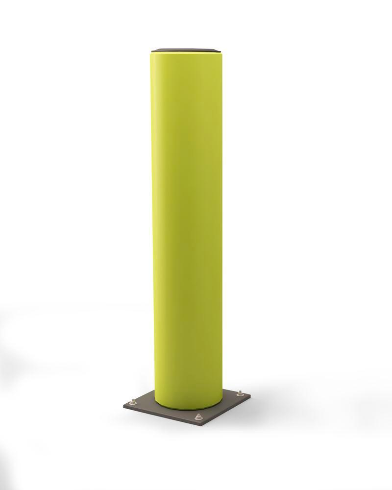 Castra impact protection bollard in plastic, colour lime - height 600 mm