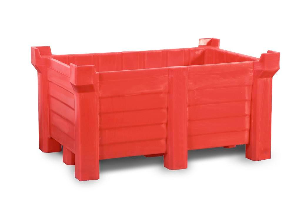 PE stackable container, 300 liter, red