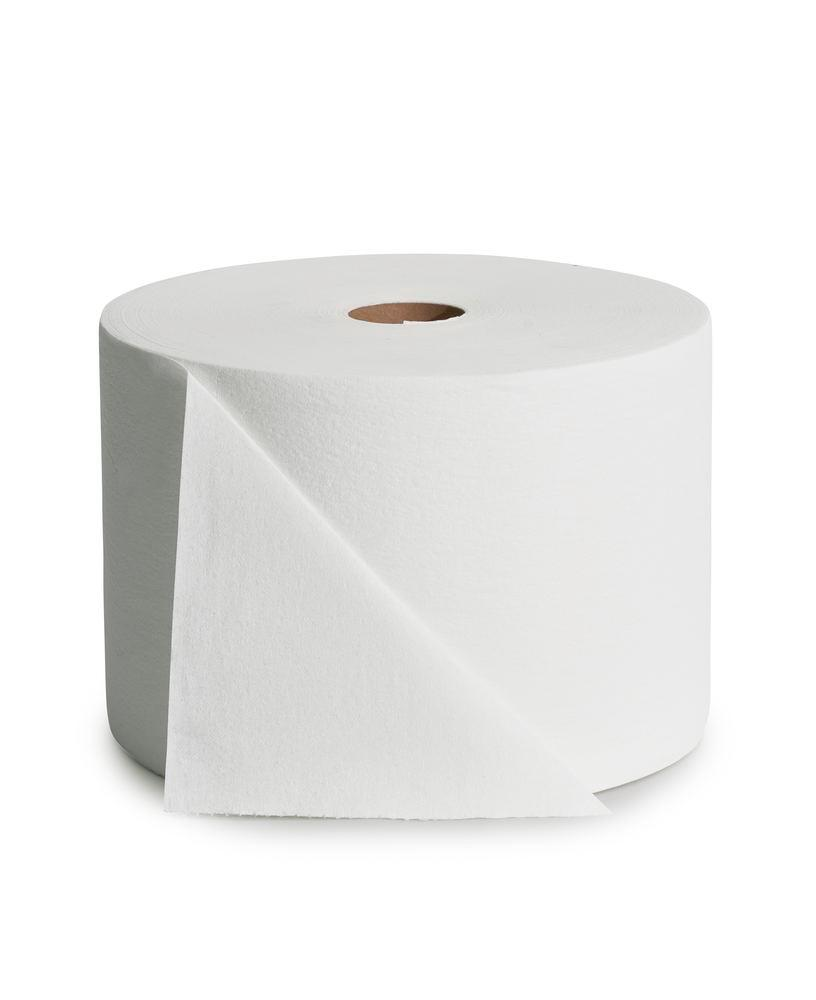 Absorbent cleaning cloths on a roll, 1 roll, white
