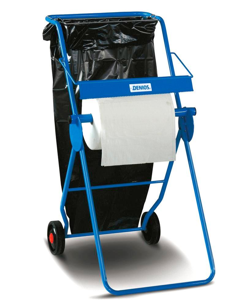 DENSORB stand for rolls up to 40 cm, mobile, including cutting edge and waste bag holder