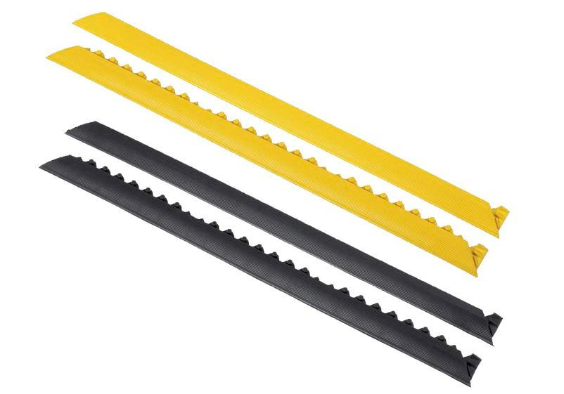 Edge strip, female connector, yellow, for anti-fatigue mat SH, 91 cm long