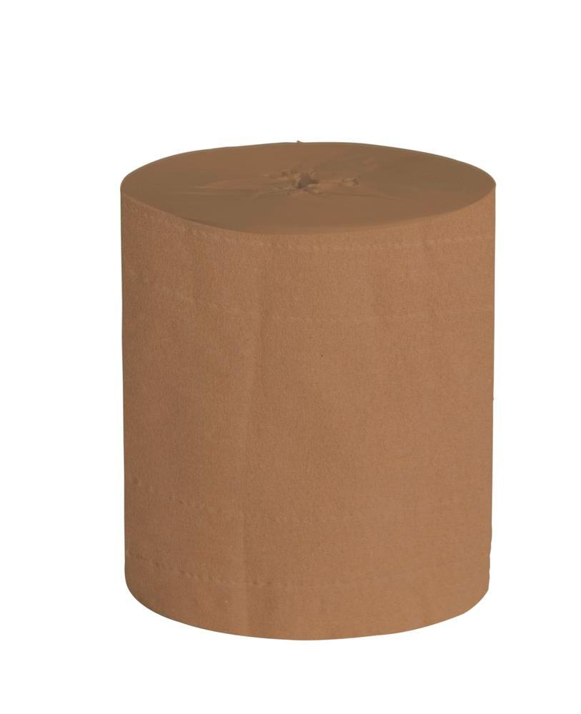 Cleaning cloth, brown, 2 ply, pack = 2 x 480 m rolls, width = 24 cm