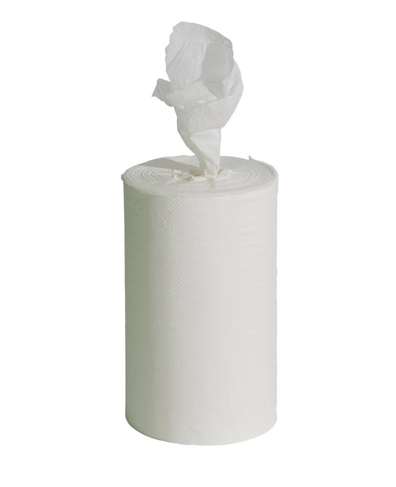 Cleaning cloth with inner dispensing, white, 1 ply, pack = 12 x 125 m rolls, width = 22 cm