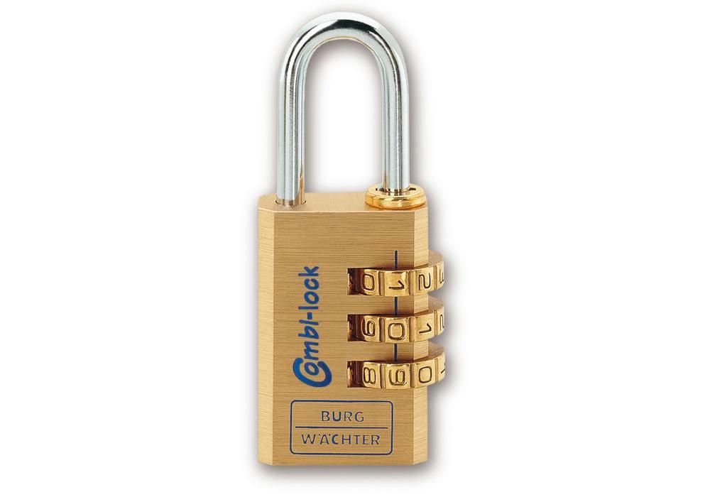 Combination padlock Combi 80 30 M, with solid brass body