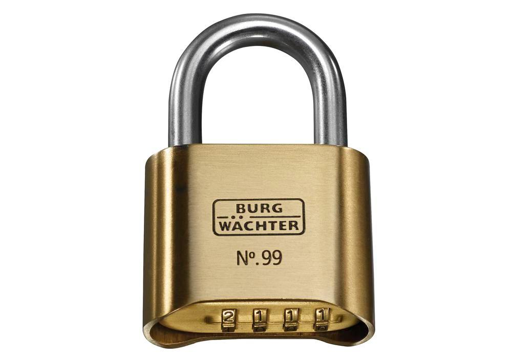 Combination padlock No. 99 Ni 50 SB, with solid brass body - 2
