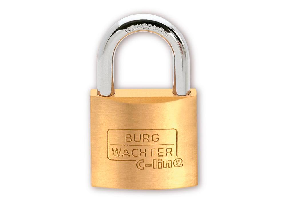 Cylinder padlock C-Line 222 30, with solid brass body