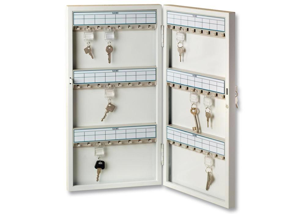 Key cabinet 6750/72 R, with 72 key hooks