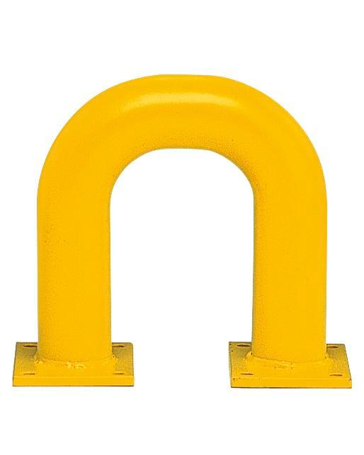 Steel barriers R 3.3, for external usage, hot dip galvanized, painted yellow and black