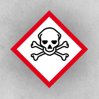 Toxic: Substances that cause acute toxicity if ingested or inhaled, such as poisons