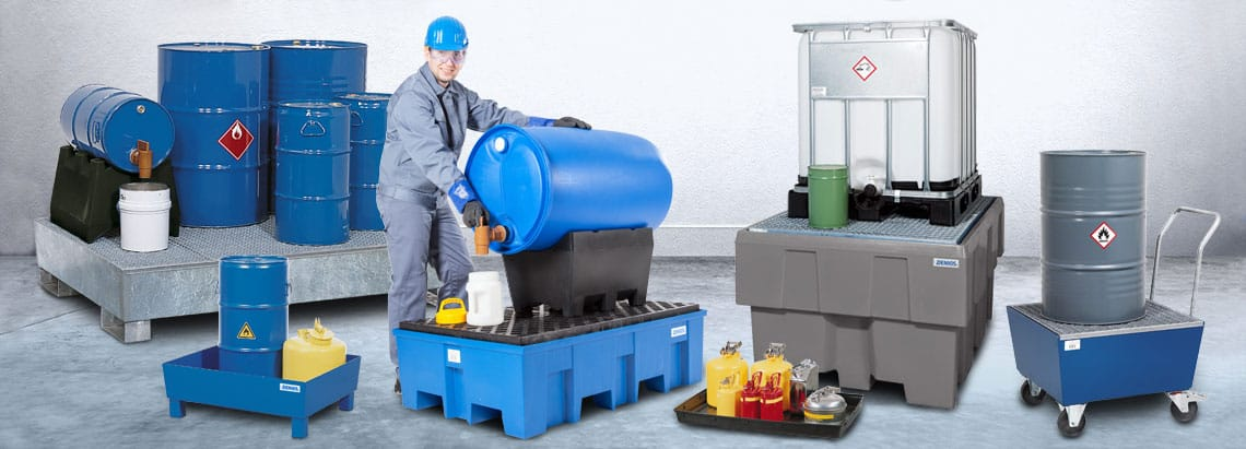Storing Hazardous Substances with Spill Pallets