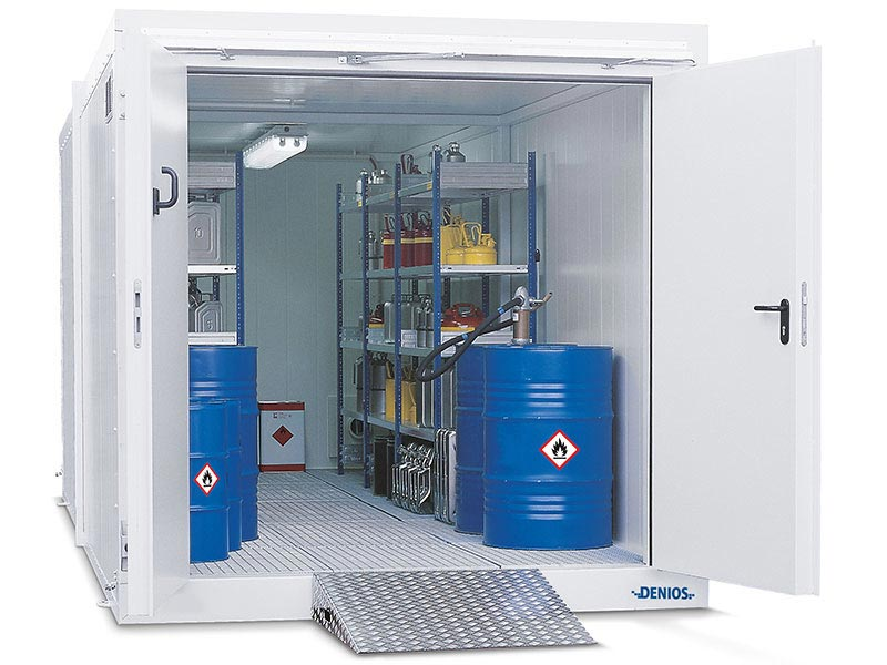 Walk-in fire rated storage containers